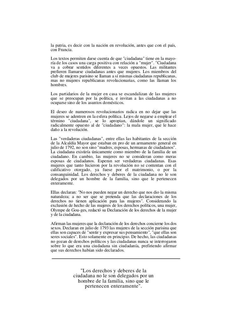 la patria, es decir con la nación en revolución, antes que con el país,con Francia.Los textos permiten darse cuenta de que...