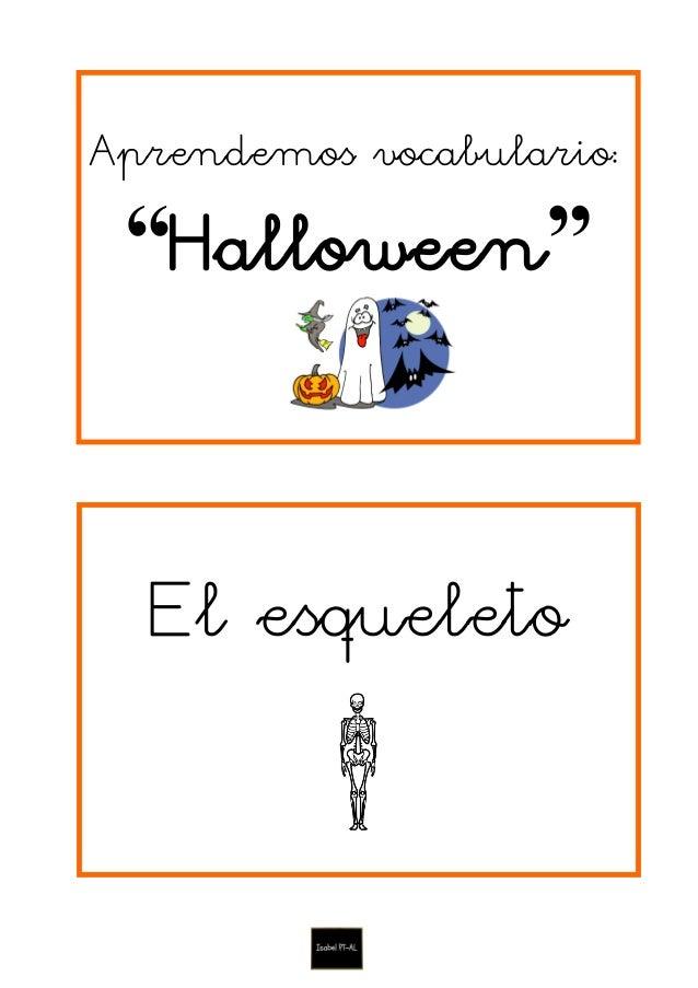 """Aprendemos vocabulario: """"Halloween"""" El esqueleto"""