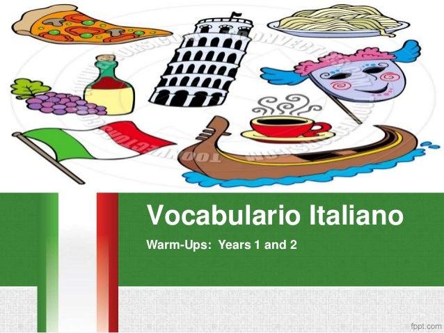 Vocabulario Italiano Warm-Ups: Years 1 and 2