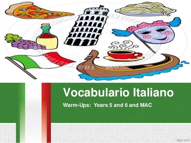 Vocabulario Italiano Warm-Ups: Years 5 and 6 and MAC