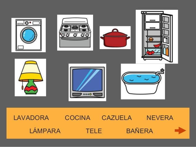 Vocabulario muebles de la casa for Muebles de la casa
