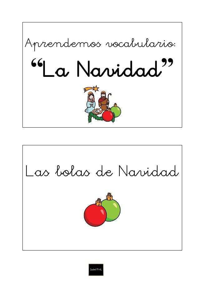 """Aprendemos vocabulario: """"La Navidad"""" Las bolas de Navidad"""