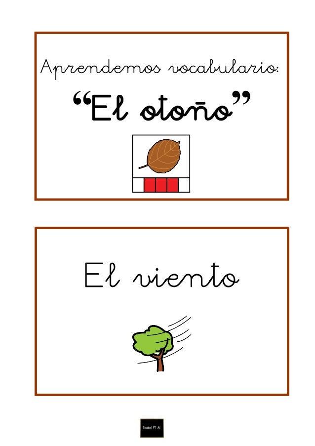 """Aprendemos vocabulario: """"El otoño"""" El viento"""