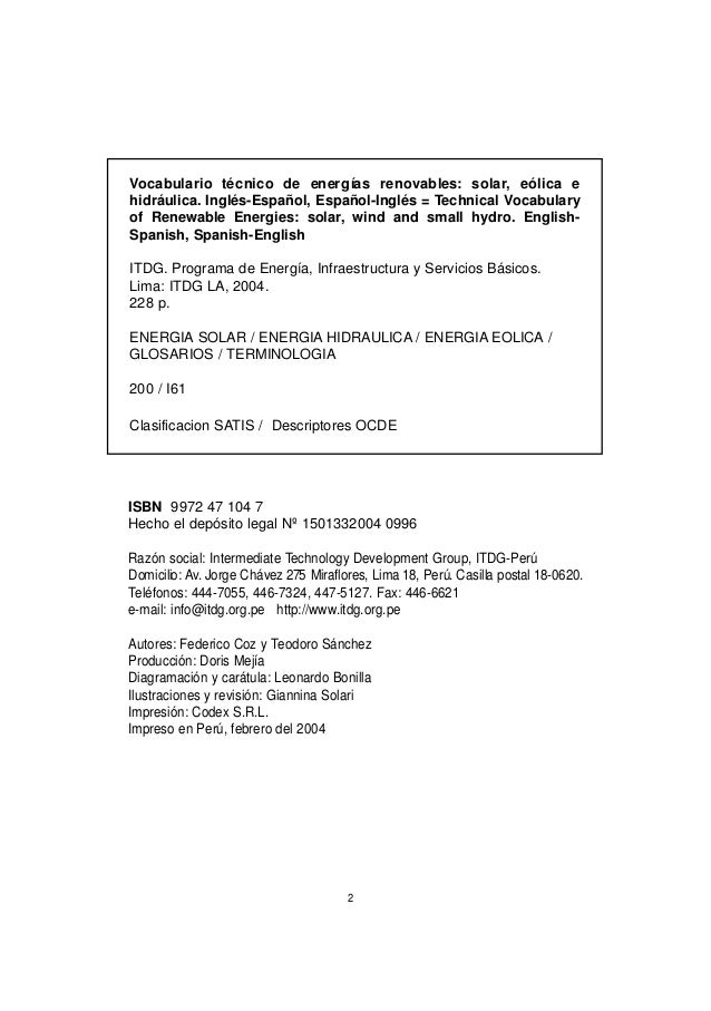 Worksheet. Vocabulario tecnico ingles espaol