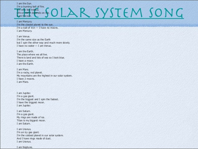 Vocabulari ppt the solar system