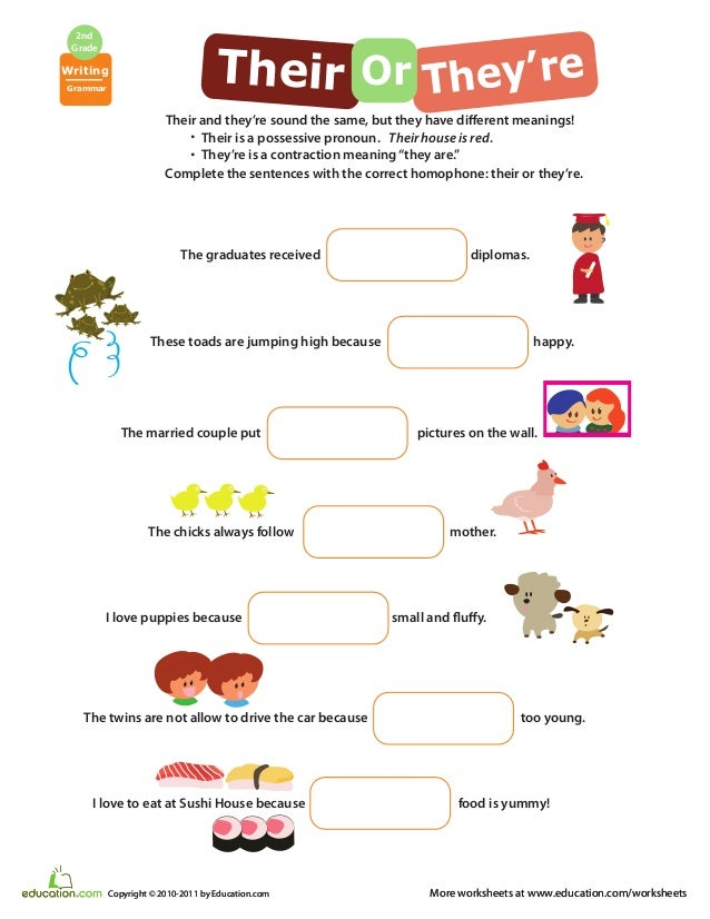 Vocabulary focusworkbook – There Their and They Re Worksheets