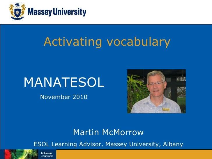 Vocabulary activation  manatesol