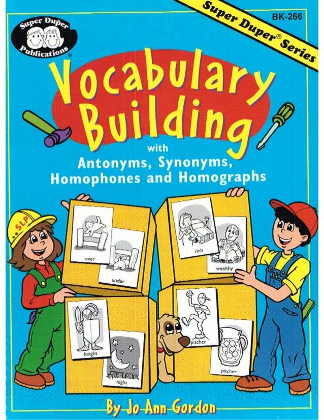 Vocabulary building for Construction vocabulary