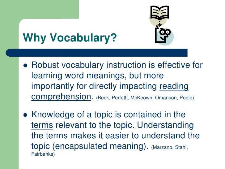 an analysis of the topic of learning and the principles of the hypothetical vocabulary This section provides a summary of the key second grade learning objectives for reading, language arts, and math a more detailed description of each subject is provided below, including links with more information on the hundreds of learning activities.