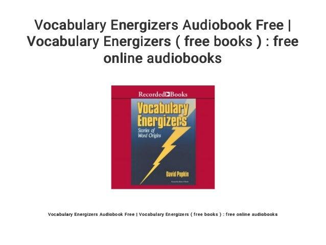 Audio Book Vocabulary