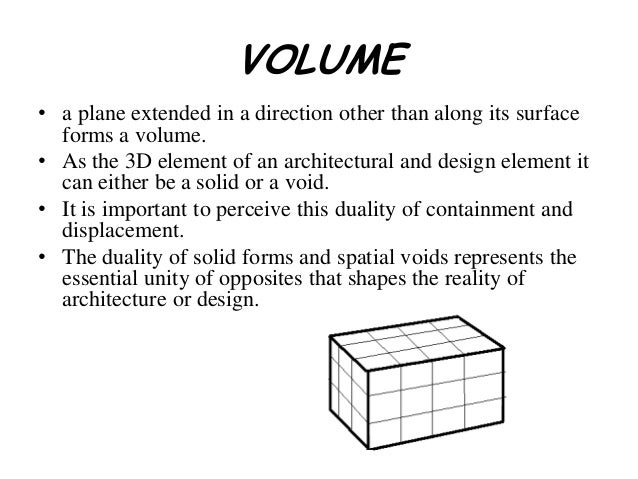 Volume It Is The Three Dimensionality Of An Object