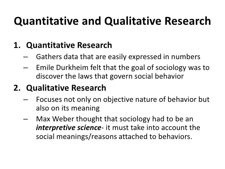 Quantitative and Qualitative Research<br />Quantitative Research<br />Gathers data that are easily expressed in numbers<br...