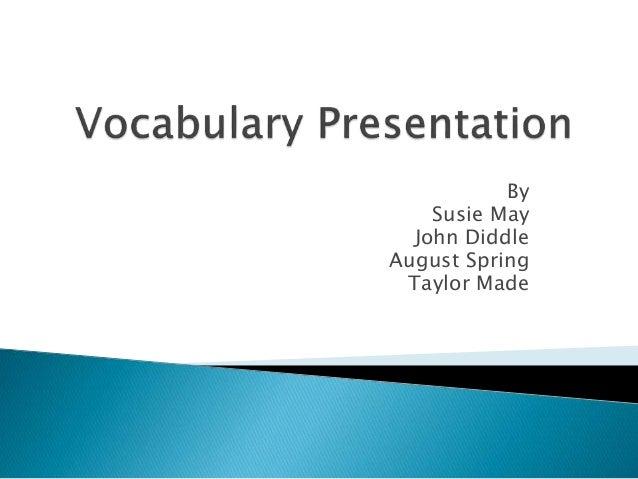 Vocabulary presentation, frindle