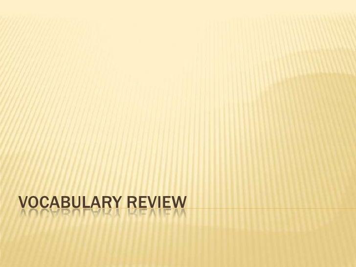 Vocabulary Review<br />