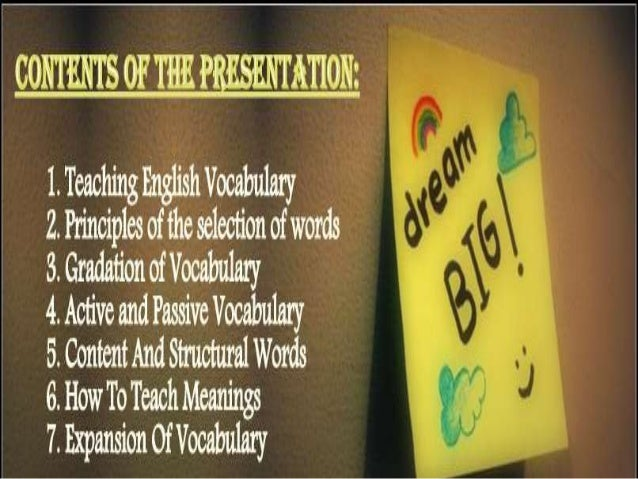 """Teaching English Vocabulary Vocabulary: """"Vocabulary is a glue that holds stories, ideas and content together making compre..."""