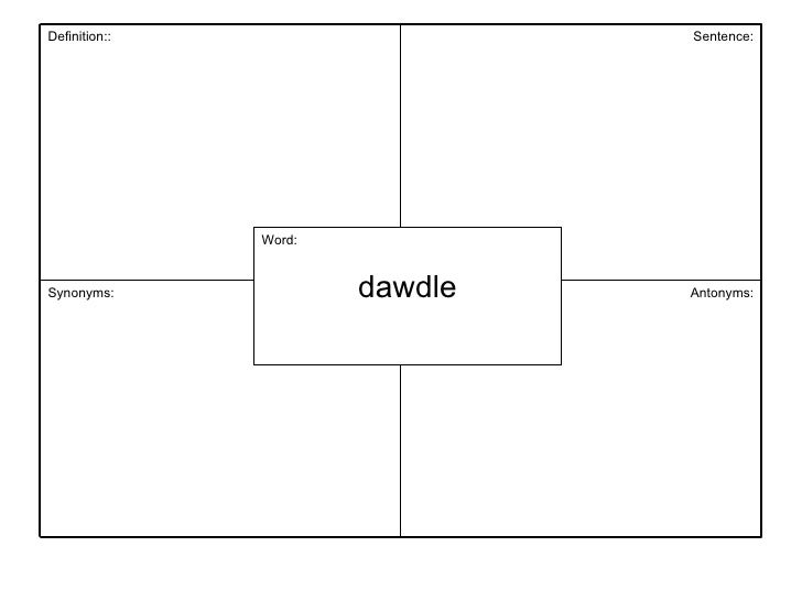 Vocabulary unit 3 word dawdle antonyms synonyms sentence definition ccuart Image collections
