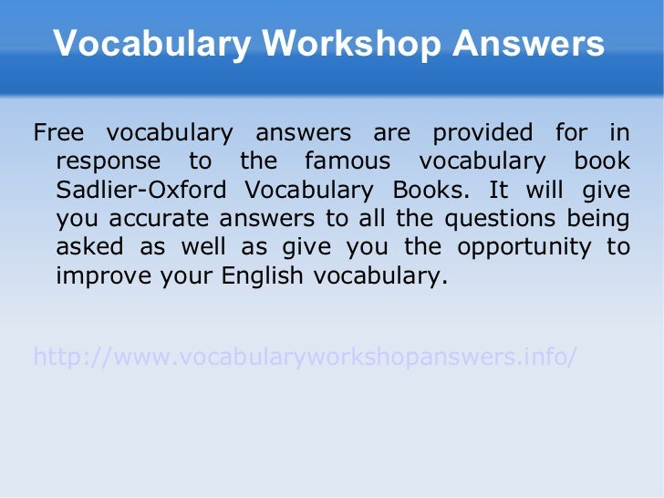 VocabTest.com material based on words found in Vocabulary Workshop Level D - Unit 1