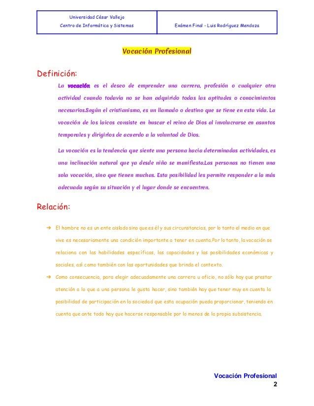 Vocación Profesional Slide 3