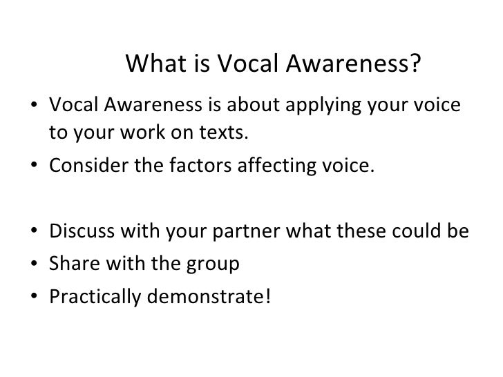 vocal awareness Body awareness and movement training  contents 1 introduction it is  vocal fold tissue and usually develop on both vocal folds.