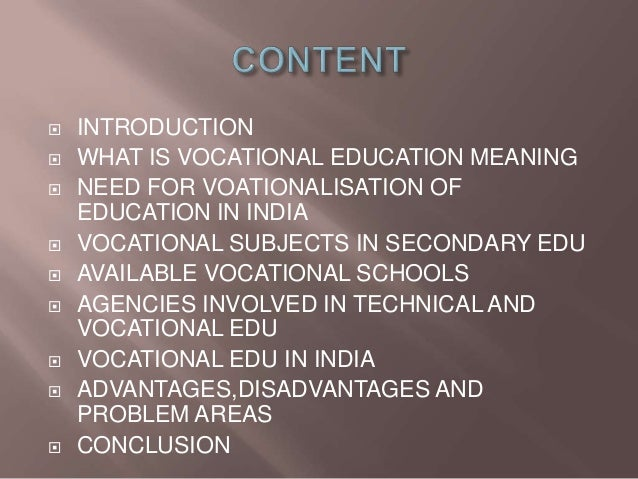 advantages of vocational education in high school