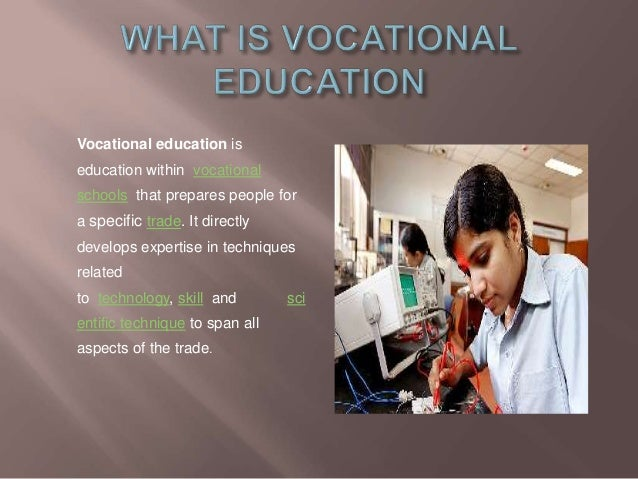 VOCATIONAL EDUCATION DEFINITION DOWNLOAD