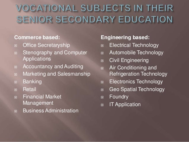 importance of vocational education pdf