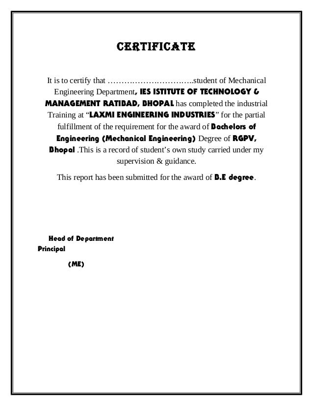 Vocational training report format certificate yelopaper Images