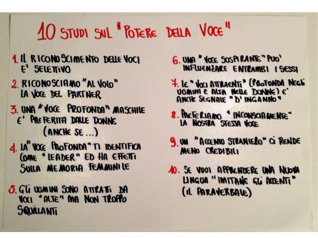10 studi sorprendendi sulla Voce