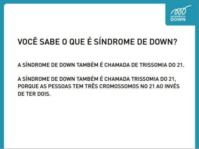Você sabe o que é síndrome de Down?