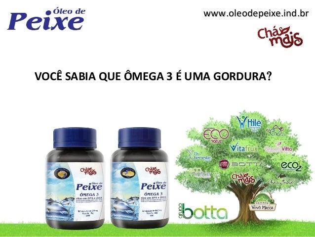 www.oleodepeixe.ind.brwww.oleodepeixe.ind.br VOCÊ SABIA QUE ÔMEGA 3 É UMA GORDURA?