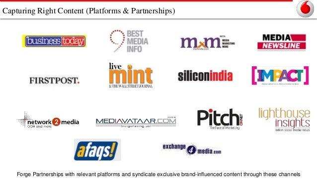 Capturing Right Content (Platforms & Partnerships)  Forge Partnerships with relevant platforms and syndicate exclusive bra...