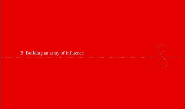 B. Building an army of influence