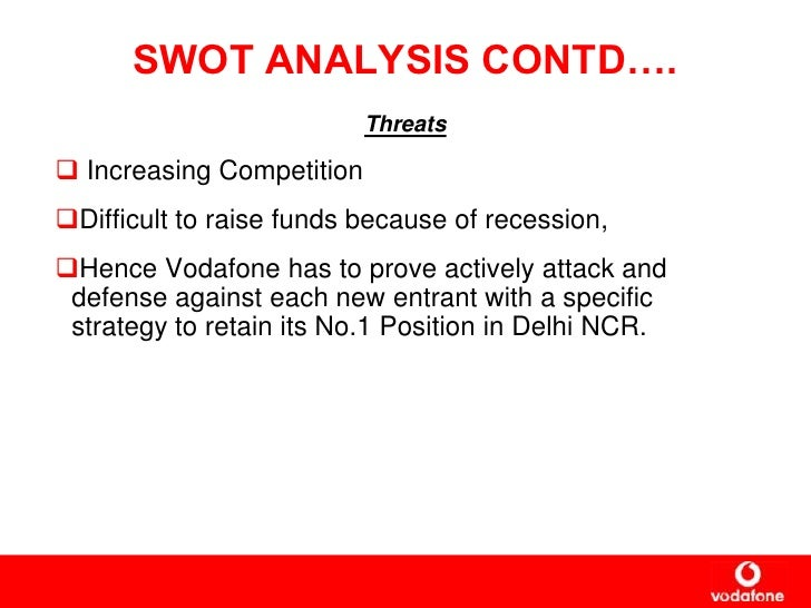 swot analysis of vodafone Swot analysis of vodafone - strengths are profitability and business outlook full coverage of market, competition, external and internal factors detailed report with strengths, weaknesses, opportunities, threats.