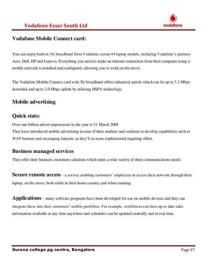 objectives of vodafone In this booklet i am going to be comparing two different businesses oxfam and vodafone i will be talking about their different aims and objectives, the.