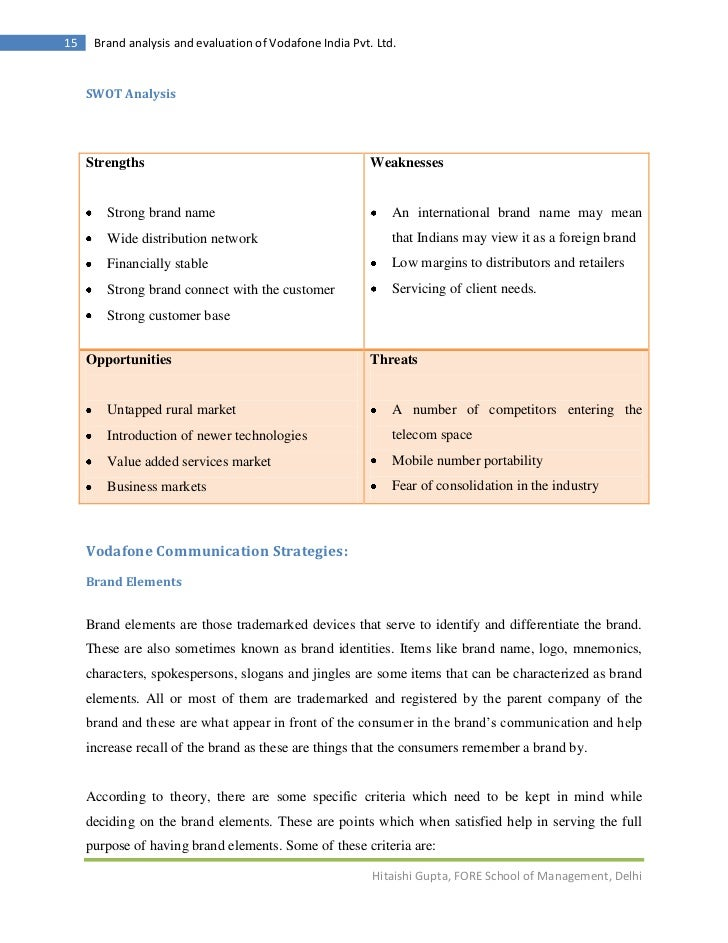 swot vodafone Vodafone group plc - strategy and swot report vodafone group plc - strategy and swot report, is a source of comprehensive company data and - market research report and industry analysis.