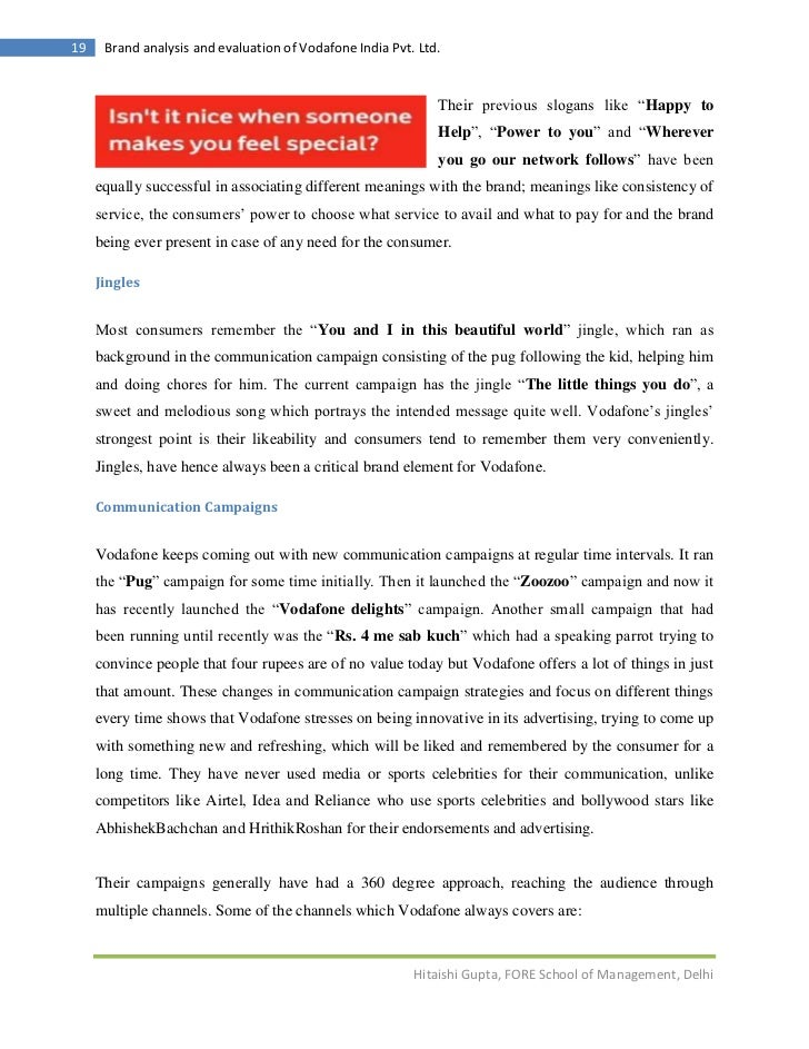 analysis of vodafone ads Full-text paper (pdf): verizon acquired vodafone- analysis of market reaction   (viii) verizon wireless will be better equipped to take advantage of the.