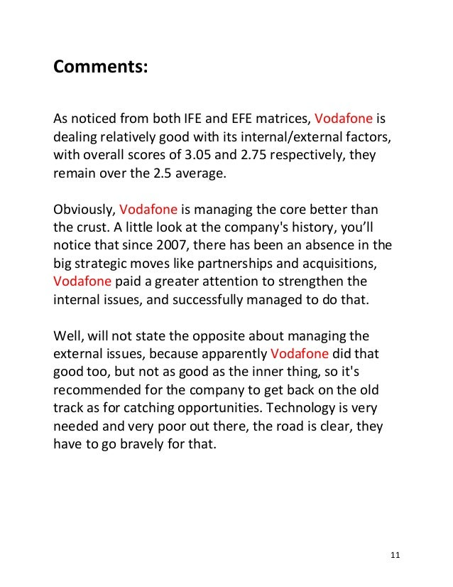 external analysis vodafone egypt Vodafone company profile - swot analysis: this profile of vodafone group plc analyses the company's operations and market conditions in key countries.