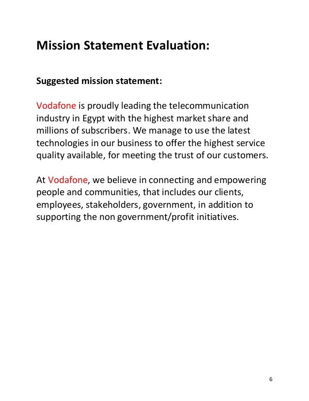vodafone vision and mission Vision, mission and objectives of business shanmukha rao padala dr n vs suryanarayana introduction: the leveraging of a firm's internal.