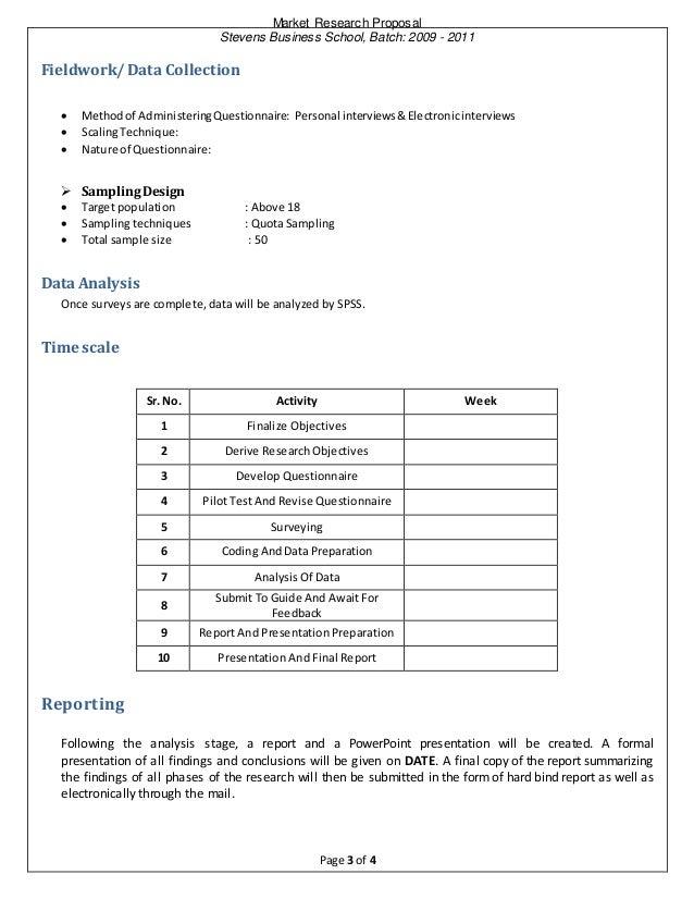 Vodafone market research proposal
