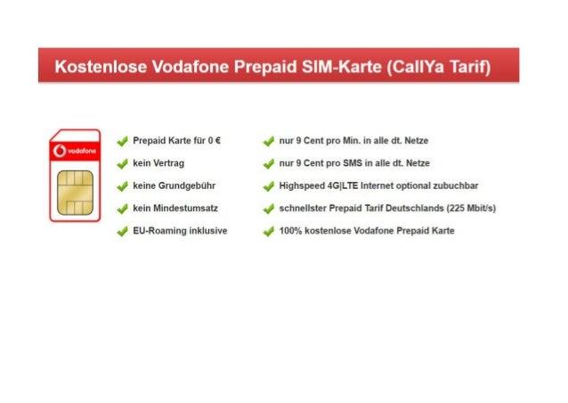 Vodafone Prepaid Karte Präsentation
