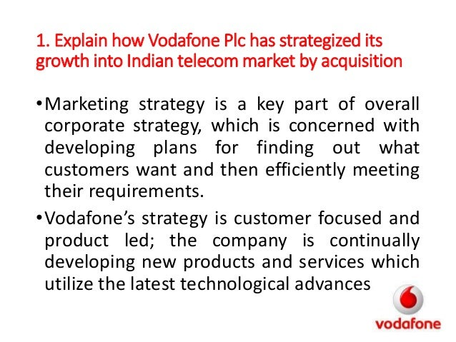 the strategic marketing management of vodafone Vodafone's brand positioning strategy focuses on the theme of optimism about  the  focus overlaid on all marketing and marketing communications activity.