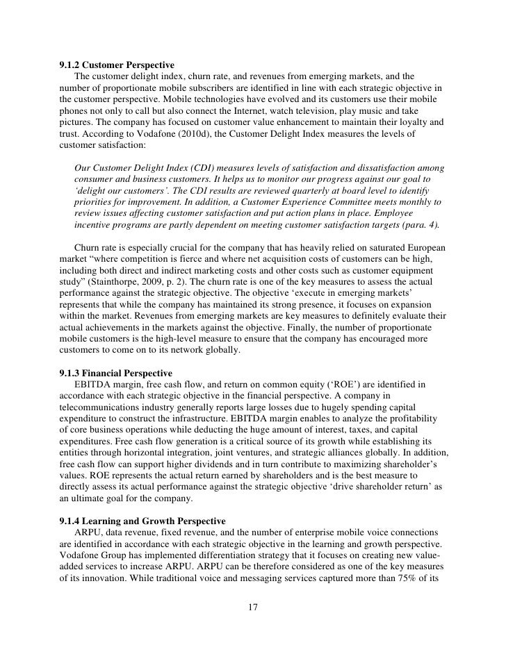 stretegic managemeny vodafone Strategic management read the case study and answer the 3 following questions as below: 1 what are vodafone's core competencies to what extent is the firm's current strategy based upon its core competencies.