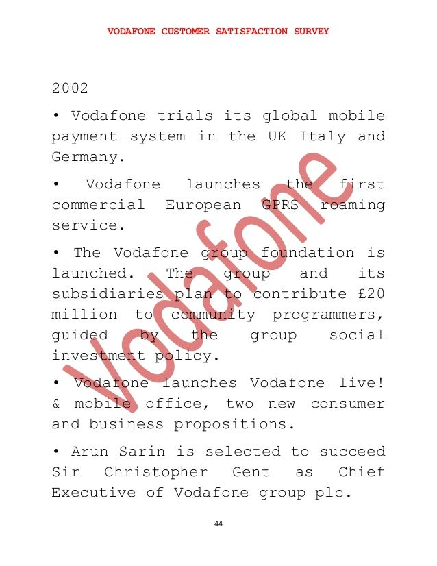vodafone customer satisfaction Customers, marketing and distribution - business - vodafone annual report 2008.