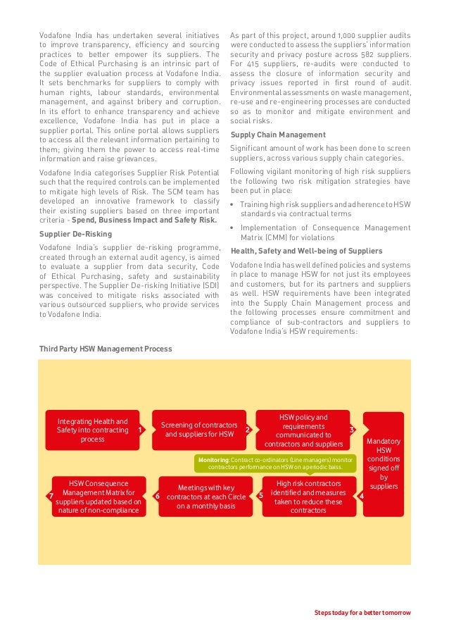 report on the strategic practices of vodafone The strategic report contains the information a shareholder should need to understand bp's business model, strategy and performance.