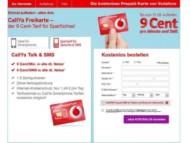 vodafone prepaid aufladen online