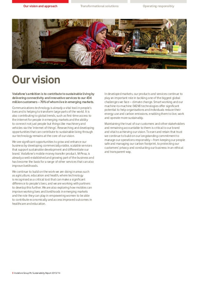 vodafone sustainability report Contents | vodafone group plc  sustainable business report 2015 -16.