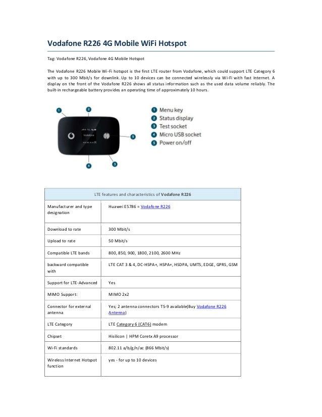 vodafone r226 4g mobile wifi hotspot. Black Bedroom Furniture Sets. Home Design Ideas