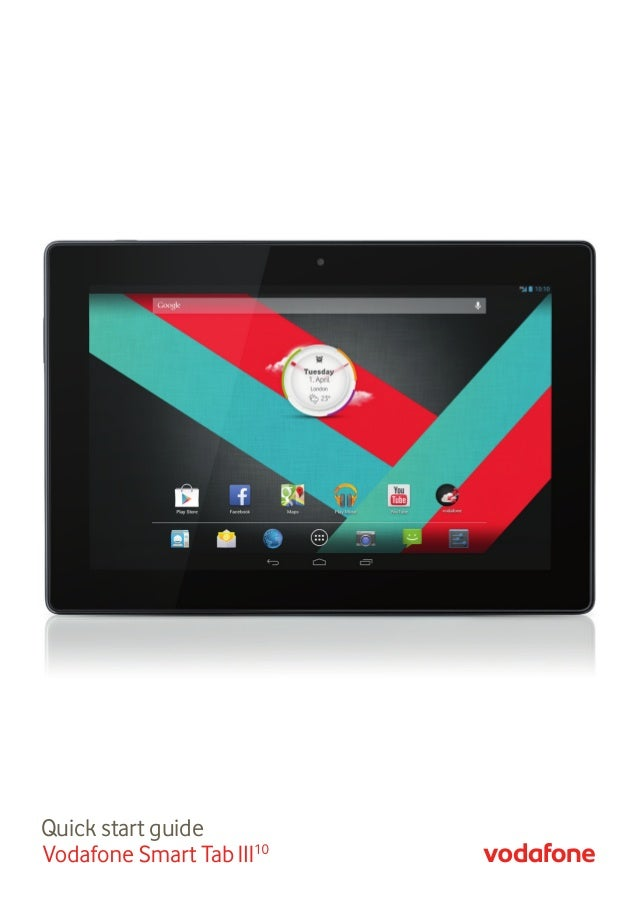Quick start guide VF Smart Tab 3 10 QSG Cover.indd 1 04/07/2013 7:45AM