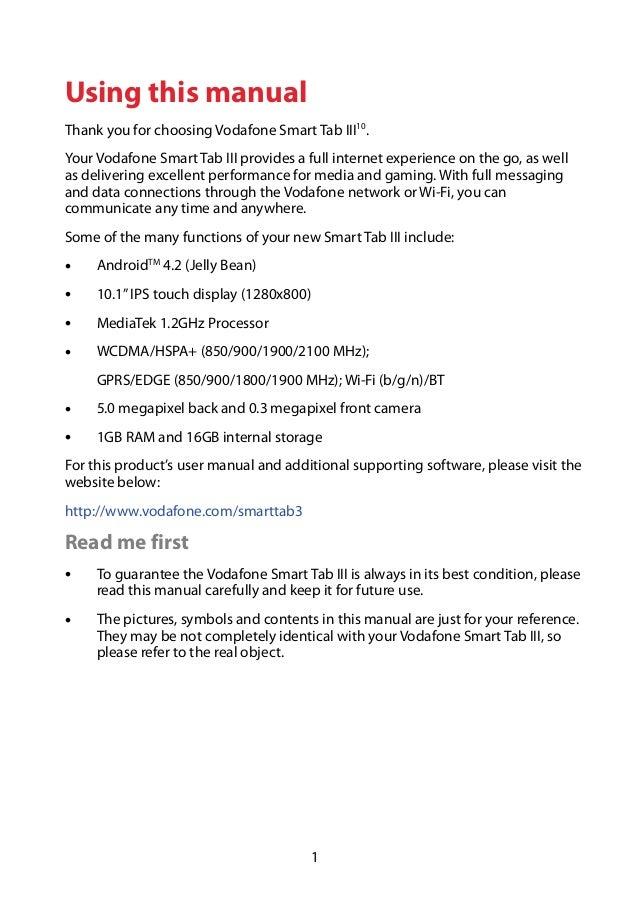 Vodafone Smart Tab III 10.1 Manual / User Guide Slide 2