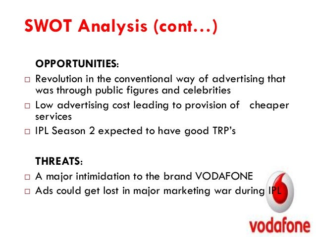 swot vodafone strengths Strengths vodafone's major strengths are the reason behind its success in the global telecoms market vodafone group public limited company, swot analysis the writepass journal.